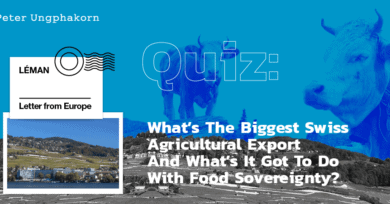 Quiz: What's the biggest Swiss agricultural export and what's it got to do with food sovereignty?