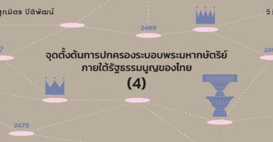 จุดตั้งต้นการปกครองระบอบพระมหากษัตริย์ภายใต้รัฐธรรมนูญของไทย (4)
