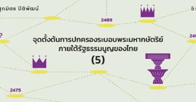 จุดตั้งต้นการปกครองระบอบพระมหากษัตริย์ภายใต้รัฐธรรมนูญของไทย (5)