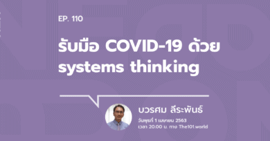 """101 One-on-One ep.110 : """"รับมือ COVID-19 ด้วย systems thinking"""""""