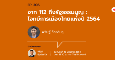 "101 One-on-One Ep.206 ""จาก ม.112 ถึงรัฐธรรมนูญ : โจทย์การเมืองไทยแห่งปี 2564"" กับ พริษฐ์ วัชรสินธุ"